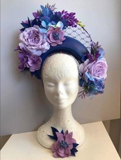 beautiful purple headdress