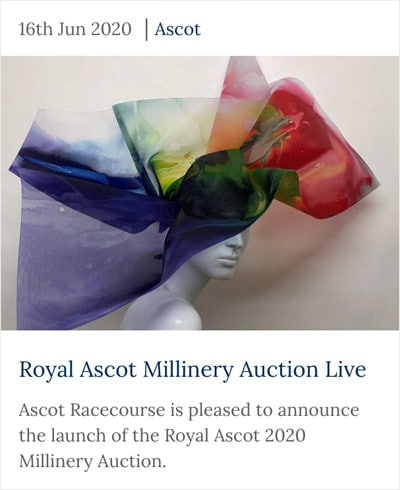 royal ascot millinery auction live rainbow themed