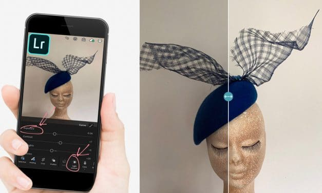 An Easy Way to Brighten Millinery Photos using the Adobe Lightroom App