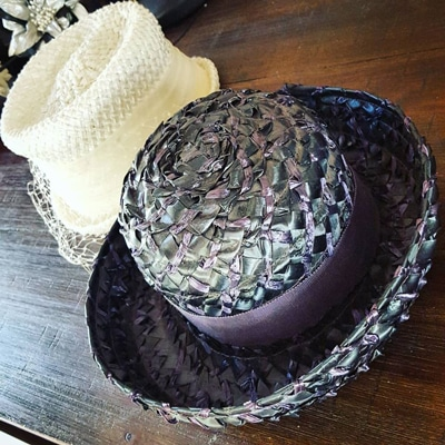 vintage straw hats from op shop