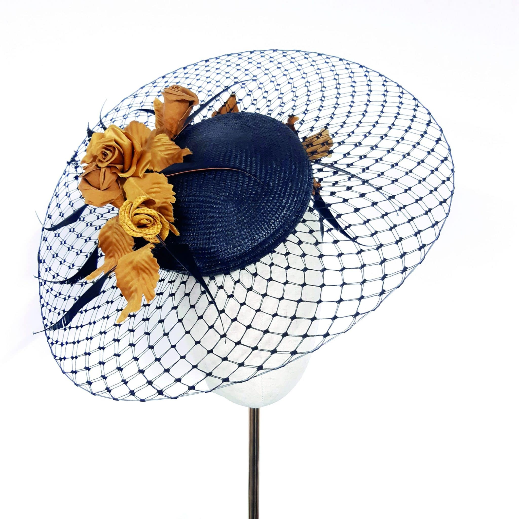 Veiling brims, learn millinery, Jenny Roberts