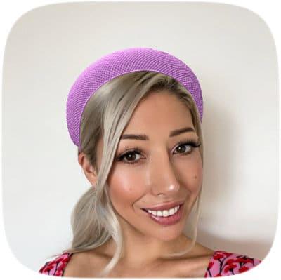 purple headband races hat virtual instagram