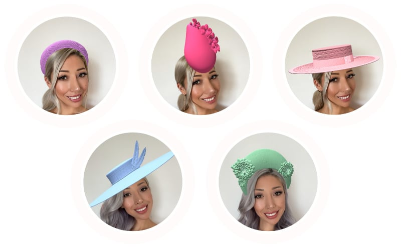 Instagram augmented reality virtual millinery hats