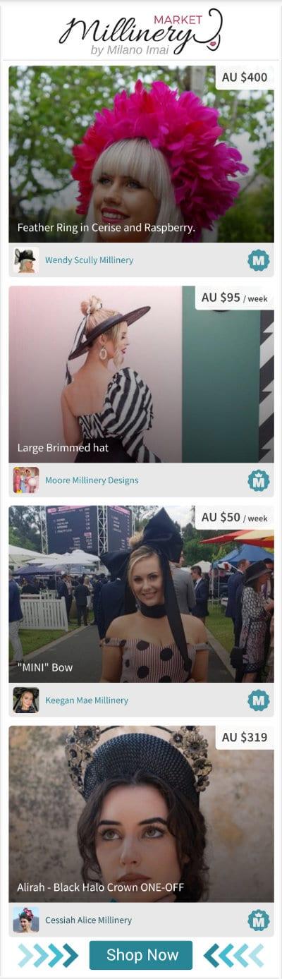 Millinery Market hat marketplace