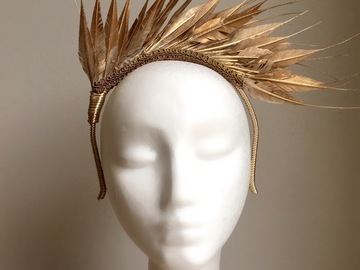 For Sale: Gold Feather Crown