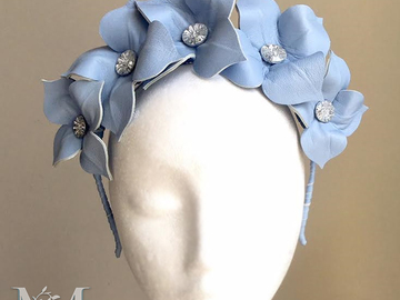 For Sale: Lily - Leather Crown - Blue