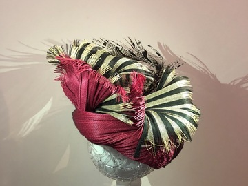 For Rent: Maroon and  Black stripe turban style