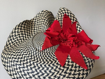 For Sale: Large brim stunning red black check