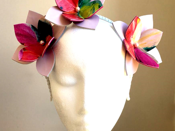 For Sale: Monet - Floral Leather Flower Crown