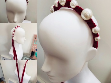 For Rent: Pearl and Velvet Ribbon Headband