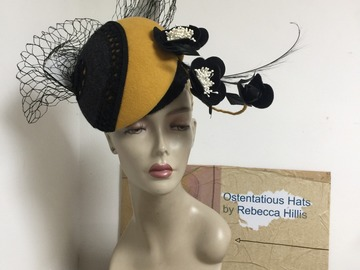 For Sale: Peggy- Mustard and black felt percher
