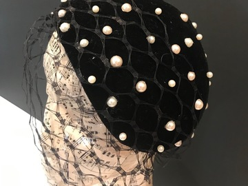For Rent: Velvet and pearl headpiece