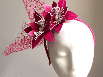 For Sale: Chantelle Leather Fascinator