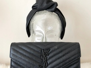 For Rent: Black Leather Knot Turban Headband