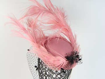 For Sale: Felt and Feather Pink Hat