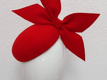 For Sale: Margot - Red Felt Bow Headpiece