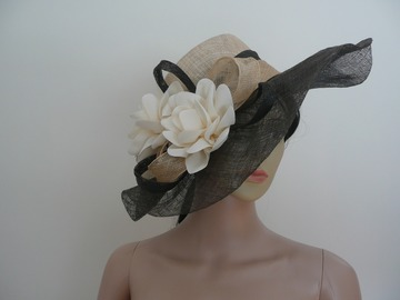 For Sale: Asymmetrical Sinamay Floppy Brim Hat