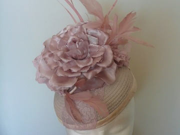 For Sale: Blush Pink Pillbox Hat