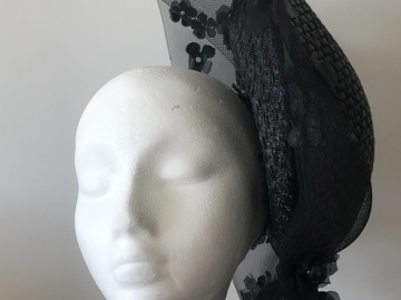 For Sale: Structured black headpiece
