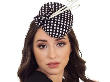 For Sale: ALESSIA - BLACK & WHITE CHECK HAT