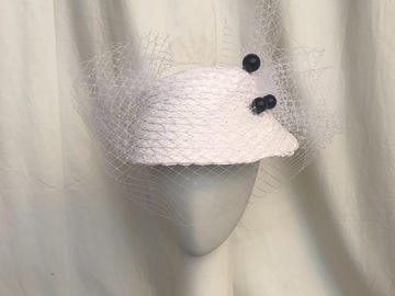 For Sale: White visor fascinator