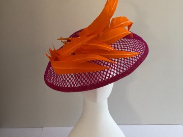 For Sale: Pink and orange Dior brim