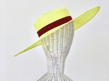 For Sale: Neon Yellow Wide Brim + Hat Band