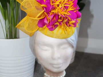 For Sale: Brand New yellow/magenta headpiece