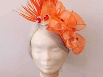 For Sale: Brand New orange/floral head piece