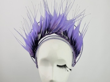 For Sale: Purple Ombre Feather Crown
