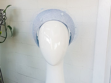 For Sale: Aerial Light Blue Veiled Crown