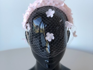 For Sale: English Garden Ice Pink headband