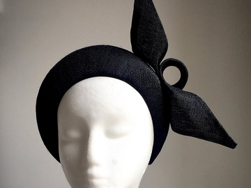 For Sale: Giselle Black Crown  Fascinator