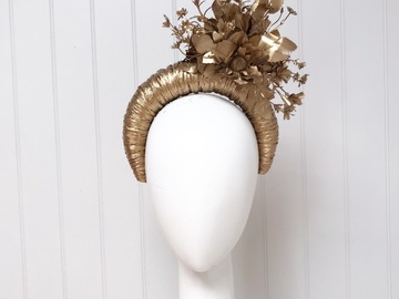 For Sale: Gold statement headpiece