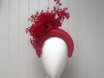For Sale: Red fascinator