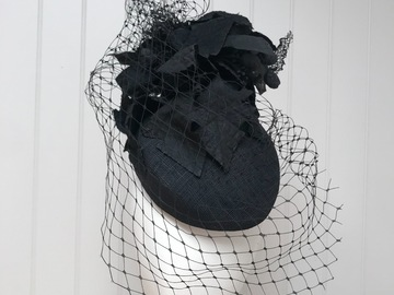 For Sale: Black fascinator with veiling