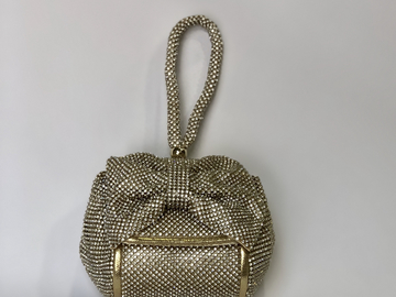 For Rent: GOLD SPARKLE BOW BAG