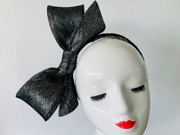 For Sale: Black and Silver Bow