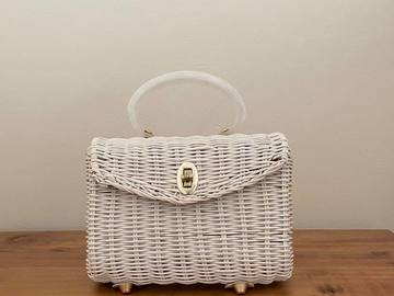 For Rent: Vintage White Wicker bag
