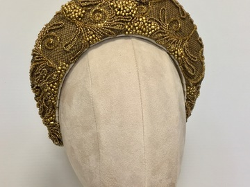 For Sale: Gold beaded halo