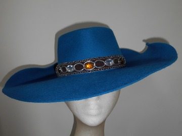 For Sale: Curly Teal Fedora