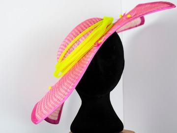 For Sale: Pink and neon tilt hat