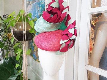 For Sale: Pink and Mint statement headpiece