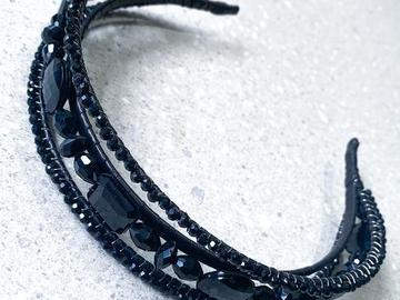 For Sale: Triple Treat  - Floating black beaded headband